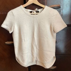 Madewell Light Cream Short Sleeve Shirt Sz XS